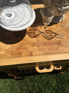 Vintage Maple Butcher Block Island