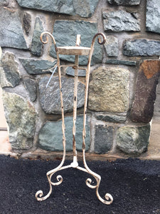 Vintage Rusty Wrought-Iron Plant Stand