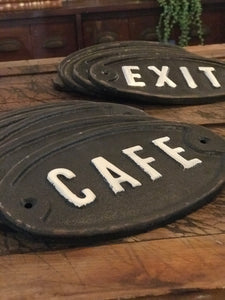 Cafe Plaque