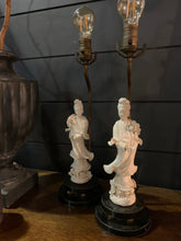Load image into Gallery viewer, Vintage Blanc De Chine Figurine Lamps