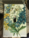 Hand-decoupaged Flora Switchplate collection