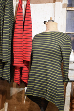 Load image into Gallery viewer, Red & Blue Stripe Riley Tee