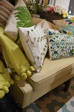 Load image into Gallery viewer, Chartreuse Throw with PomPoms - FREE SHIPPING!