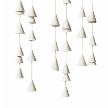 Load image into Gallery viewer, White Ceramic Wind Chimes