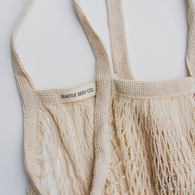 Load image into Gallery viewer, French Market Tote | Farmer's Market Mesh Grocery Bag