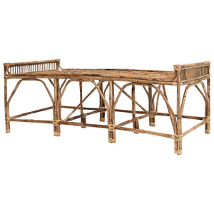 Natural Cane Bench/Day Bed