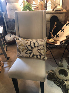 Pair of Newly upholstered chairs.