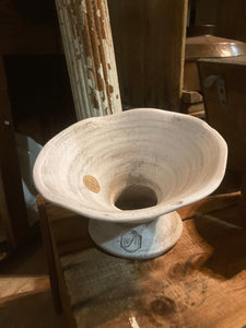 White Axis Pottery Planter