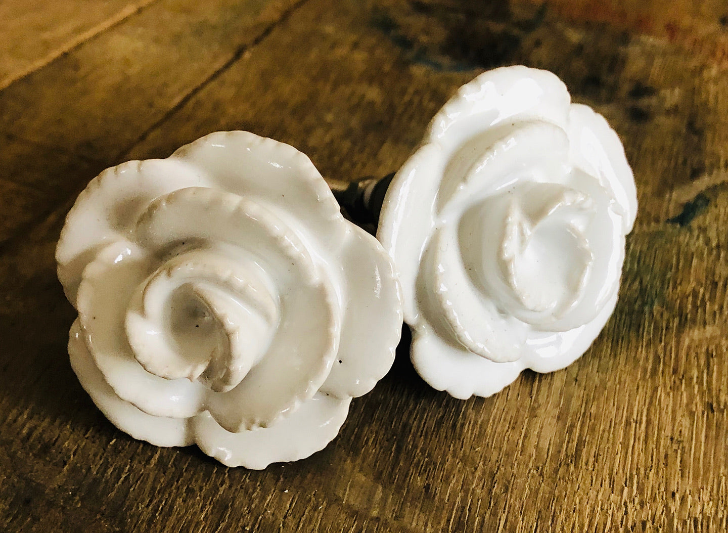 White Flower Knobs