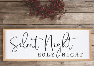 Silent Night Framed Sign
