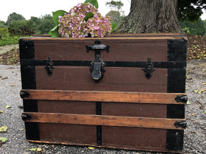 Vintage Wood and Metal Trunk