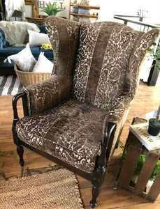Solid, Freshly Upholstered large wing chair