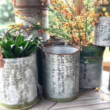 Load image into Gallery viewer, Unique Recycled Ammunition Canisters turned Planters/Containers