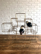 Load image into Gallery viewer, Brass Geometric Wine Rack