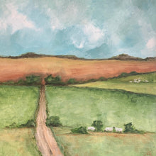 "Load image into Gallery viewer, Spring pastoral Original 18"" x 18"""