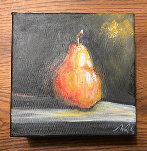 Original Pear on Gallery Wrapped Canvas