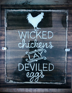Wicked Chickens Handmade Wall Art