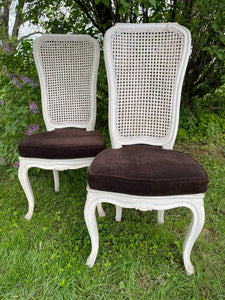 Pair of Vintage Cane Chairs