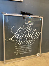 Load image into Gallery viewer, Laundry Themed Hand painted Storm Window
