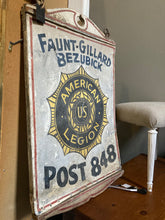 Load image into Gallery viewer, Vintage American Legion Sign