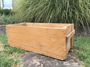 Vintage Pine Box with Handles