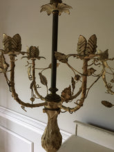 Load image into Gallery viewer, Pair of Vintage Metal Candleabra Lamps