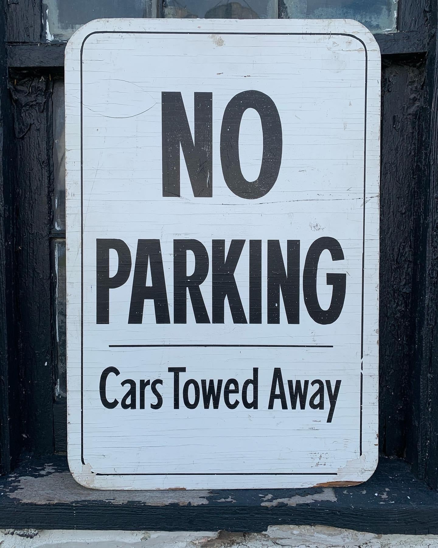 Vintage Black and White Sign