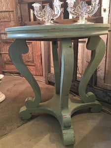 Vintage Empire Green Side Table