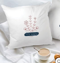 Load image into Gallery viewer, Live Simply Throw Pillow