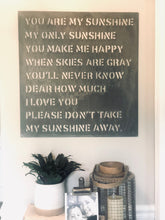Load image into Gallery viewer, AMAZING METAL SIGN- YOU ARE MY SUNSHINE