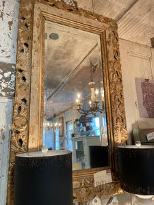 Vintage Super Chippy Gilded Mirror