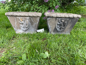 Matching Pair of Concrete Planters