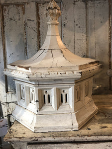 Old White Cupola with Hook on Top