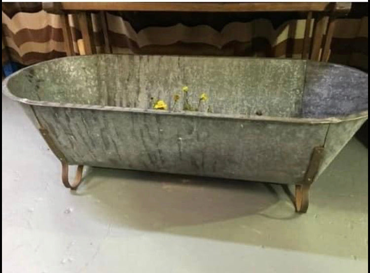 Antique European Galvanized Bath Tubs
