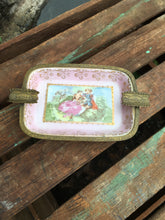 Load image into Gallery viewer, Vintage Porcelain/Brass Ashtray