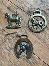 Load image into Gallery viewer, Vintage Brass Horse Medallion