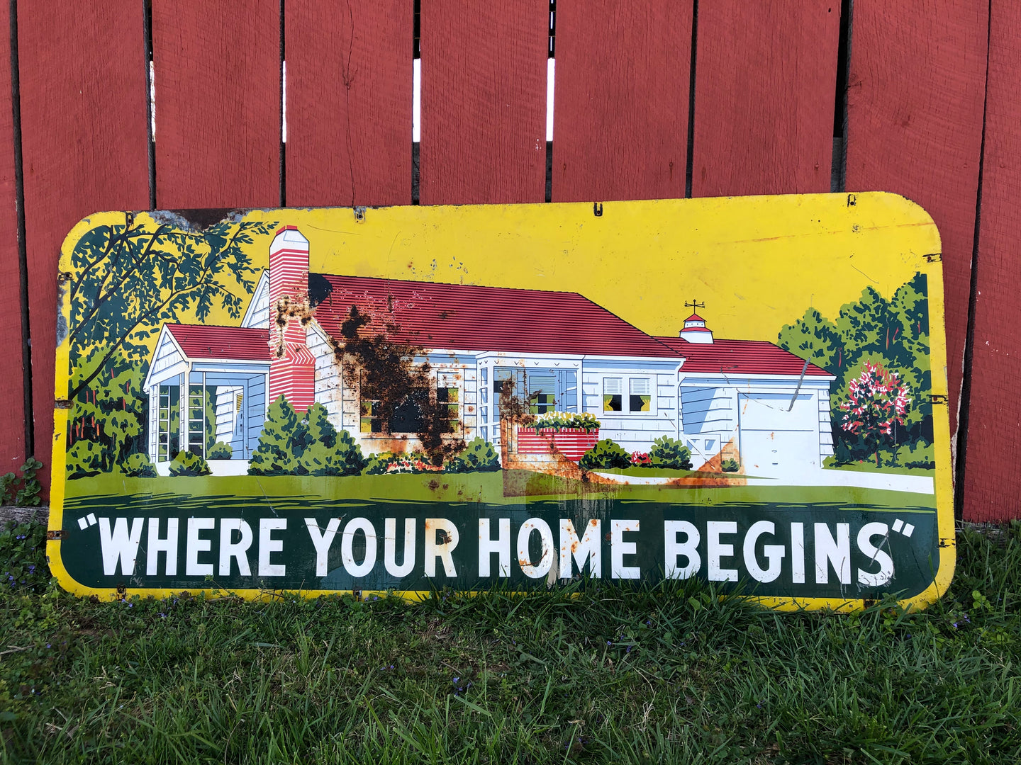 XL Sign Where Your Home Begins