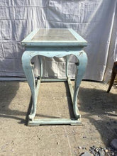 Load image into Gallery viewer, French Blue Console Table w/Marble Insert