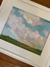 Load image into Gallery viewer, Original Sunset Sky Scape in White Plein Air Frame