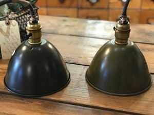 Vintage military pendant lights