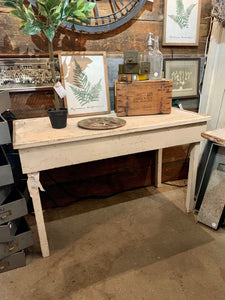 Classic white potting table