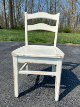 Load image into Gallery viewer, Vintage Painted Oak Child's Chair