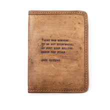 Load image into Gallery viewer, Leather Passport Covers with Quotes