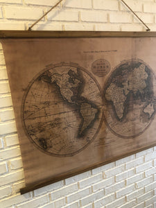 MAP OF WORLD WALL CANVAS