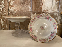 Load image into Gallery viewer, Sweet Vintage French China Pedestal Dish