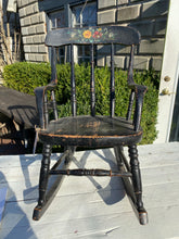 Load image into Gallery viewer, Vintage Black Childs Rocker