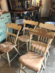 Set of four sturdy farm plank chairs at a WOW price!