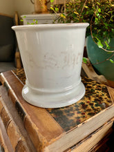 Load image into Gallery viewer, Ironstone Monogram Shaving Mug