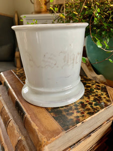 Ironstone Monogram Shaving Mug