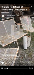 Three Piece Vintage Iron Outdoor Patio Set